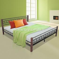 Miegamojo lova medinėmis kojomis ML03