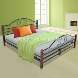 Miegamojo lova medinėmis kojomis ML04