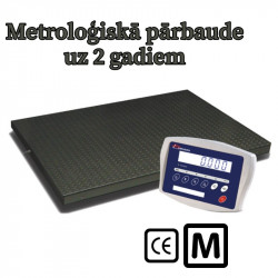 Platformas svari ar metroloģisko pārbaudi līdz 1500 kg